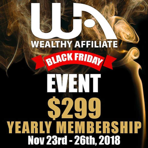 Svae Money Blcak Friday at Wealthy Affiliate