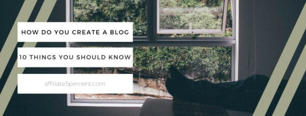 How do you create a blog